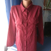Женская рубашка с удлиненной спинкой, р.М(46-48)