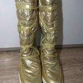 TenTex. золотые термо сапожки 25 см