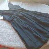 F&F новое фирменное платье 42 S без рукавов чёрное миди