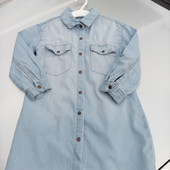 Стоп!!,фирменное красивое яркое натуральное удобное джиносовое платье- рубашка на кнопках