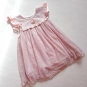 Нежно-розовое платье Disney на 3 года