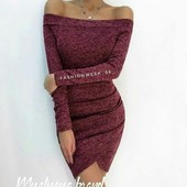 Мена-распродажа! Мягенькое изысканное ангоровое платье с открытыми плечиками! 4 цвета, 42-44, 44-46р