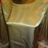 Атласная блузка грязнорозового цвета на М