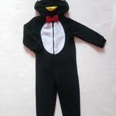 Классный тёплый, мягкий слип-пушистик, карнавальный костюм пингвин F&F на 2-3 года, рост 98
