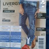 Livergy мужские стильные джинсы Straight Fit Германия! Размер на выбор!