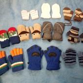 рукавички перчатки на выбор до 3 лет