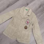 Стильный вельветовый пиджак для мальчика Benetton! Германия! 122р.