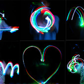ВаУ!!!Хеллоуин!минифонарики на пальцы с светящимися паутинками-led свет\3шт-упаковка\