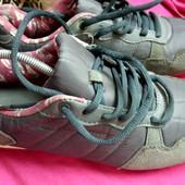 Женские кроссовки размер 40 натуральная замша+ текстиль