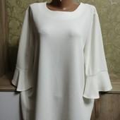 Фактурная блуза - реглан на пышную красу, размер 22