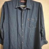 Джинсовая рубашка! р.50-52!!