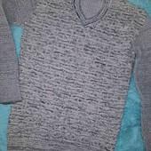 Красивейший необычный мужской свитер,M-L