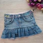 Крутая джинсовая юбочка на 3-5лет. Хорошее состояние