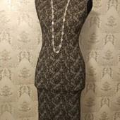 Жаккардовое платье С-М