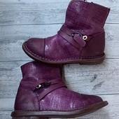 Полностью кожаные Деми ботиночки KicKars 26 размер стелька 16 см