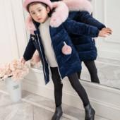 Шикарный пуховик для девочки до -20 мороза+подарок!есть видеообзор!блиц-доставка бесплатно!
