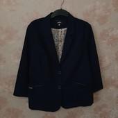 Стильный пиджак темно-синего цвета ! УП скидка 10%