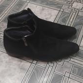 Натуральные замшевые зимние ботиночки.43 размер