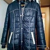 Темно синяя куртка зимняя на холофайбере