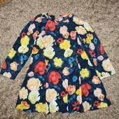 Платье с цветами на 2 года