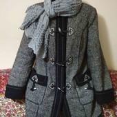 очень тёплое пальто пог. 53 шерсть 100%