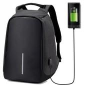 Рюкзак антивор с выходом для USB Design Body с защитой от карманников черный