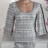 Очень теплое платье с начесом р.34/XS/42