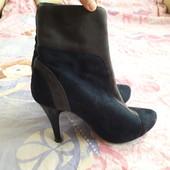 Осенние ботинки замш, по стельке 24 см