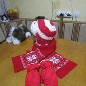 Шапка reima р. 54-56 шарф и варежки в подарок