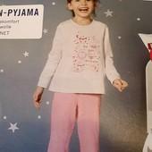 Піжамка на дівчинку, бренд lupilu , германія.розмір 98/104