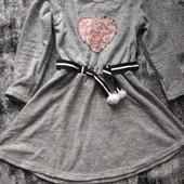 тепла сукня ангора з начосом 152-164 стан нової