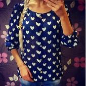 блуза сердечки