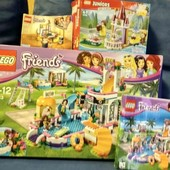3 набора Lego friends, lego juniours оригинал, около 1000 деталей