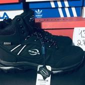 Бона оригинал, Bona натуральная кожа зимние ботинки, 43р, ст27,5см,Распродажа последних размеров-70%