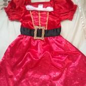 Новогоднее маскарадное платье помощница Санты, 2-3г