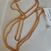 новинка! очень красивая и нежная цепочка, плетение панцирное 45 см, позолота 585 пробы