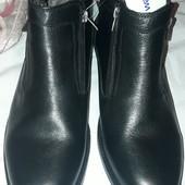 Зимние ботинки натуральная кожа и цегейка