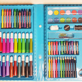 Художественный набор для детского творчества, рисования painting Set 86 предметов в чемодане ,кейс