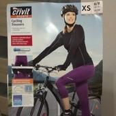 Шорти бриджі Crivit з памперсом для велоспорту xs-s