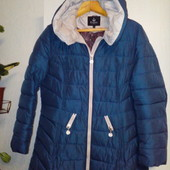 Зимнее пальто-пуховик р. 56