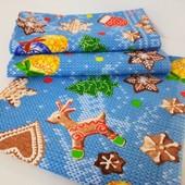 Набор красивых Новогодних полотенец из хлопка!