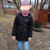 Отличная детская куртка.Красивая и практичная.Следы носки минимальные.