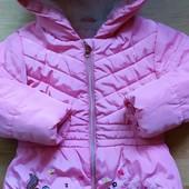 Пальто курточка зимнее 5-6 лет.
