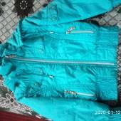 Дитяча веснянно-осіння куртка.