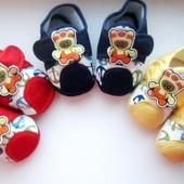 Красивые пинетки - туфли - тапочки - мокасины. 15-16 р.