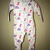 Хлопковый слип на возраст 0-3 месяцев