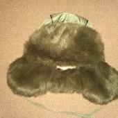 Детская зимняя шапка-печка. Состояние отличное! Объем 48-50.