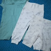 Набор 3 шт, песочник+штанишки +бриджики для мальчиков и девочек Lupilu размер 62/68 (2-6 мес.) )