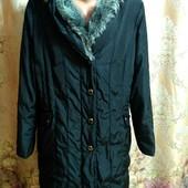 Утеплена довга куртка