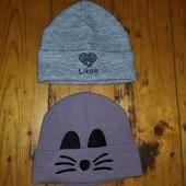 2 стильні шапки одним лотом осінь зима Стан супер